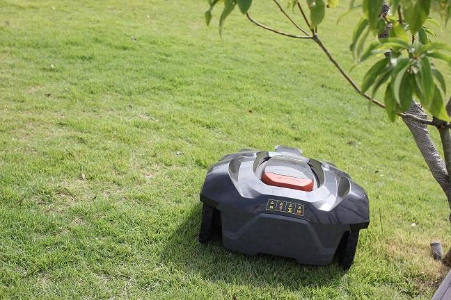 芝を刈ってるロボットの画像