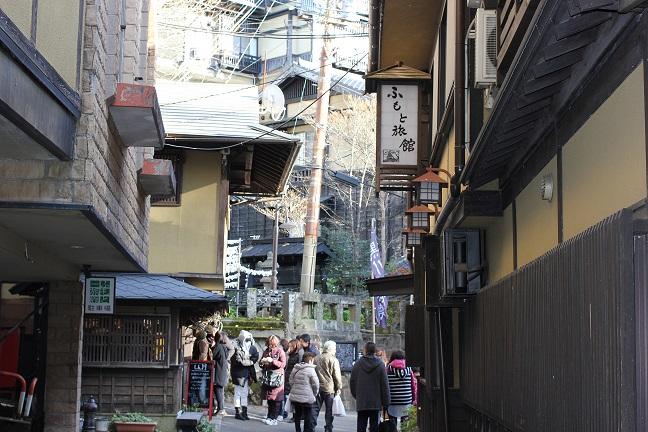 黒川温泉の街並みの写真