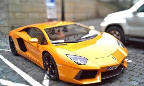 夢の黄色のスポーツカーの写真