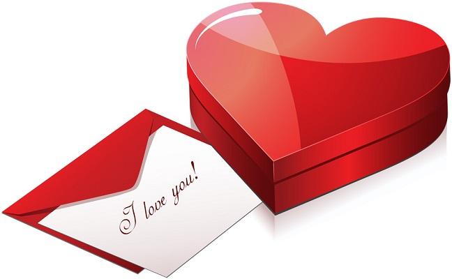 バレンタインの贈り物のイラスト