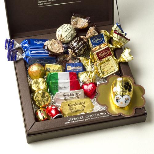 チョコレートの詰め合わせギフトの写真