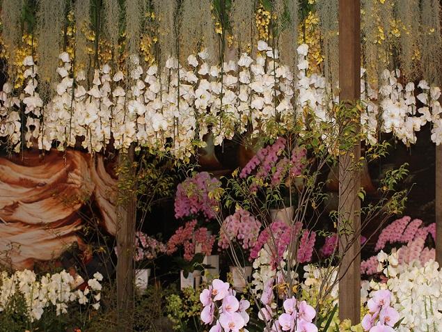 欄の庭つくりの写真