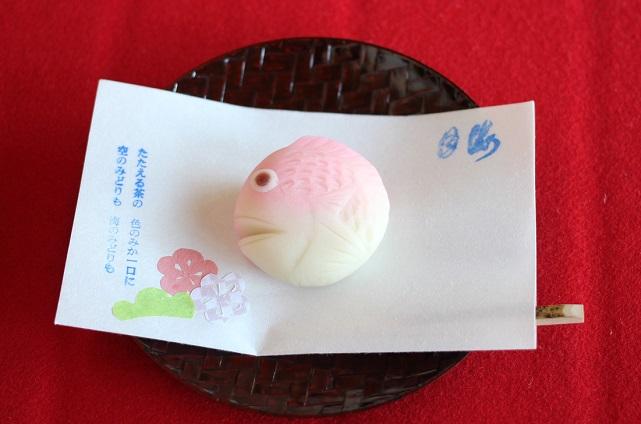 名護屋城の茶屋で頂いた和菓子の写真