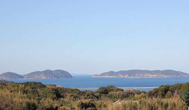 名護屋城跡から見える風景の写真