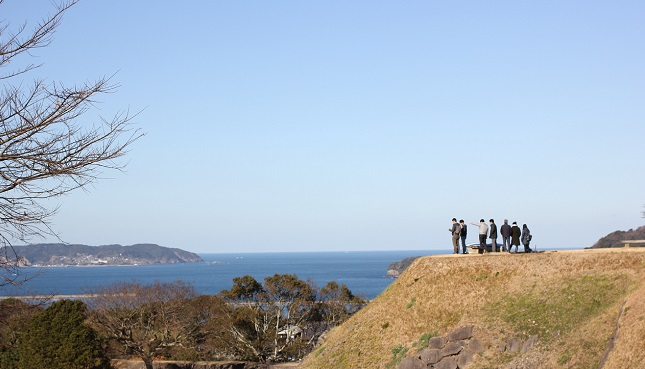 名護屋城跡の上の方の写真