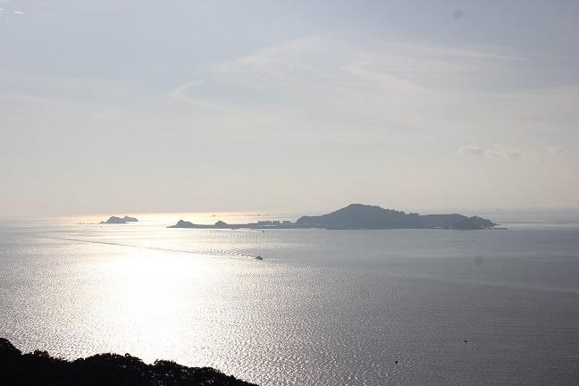 展望台からの綺麗な海の写真