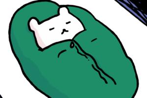 眠ってるくまのイラスト