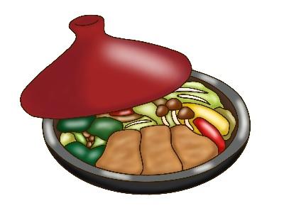 タジン鍋のイラスト
