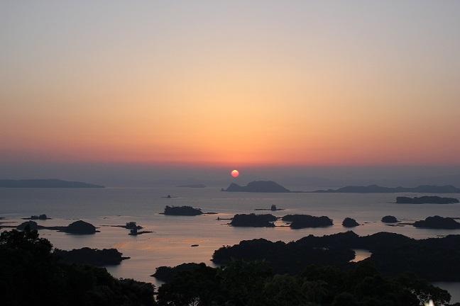 展海峰の夕日の写真