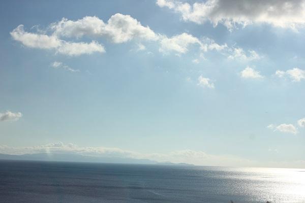 ドライブしながら撮って写真 海と空