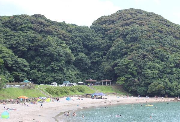 しりくさり浜の海水浴場の写真