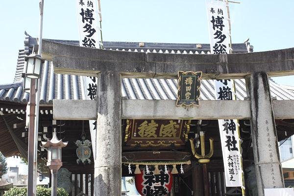 神社の外観の写真