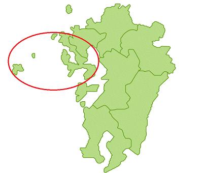 九州地図のイラスト