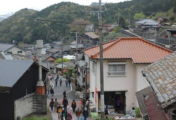 中尾山の街並みの風景写真