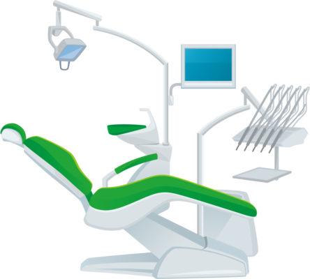 歯科の治療椅子のイラスト
