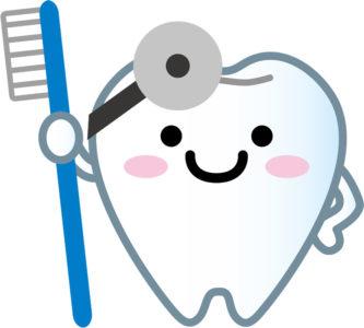 歯医者さんのイメージの歯のイラスト
