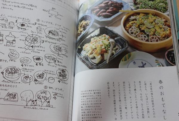 春のおもてなし料理の本の写真