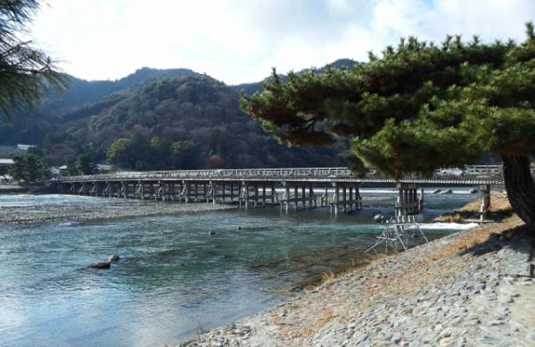 嵐山 渡月橋の写真