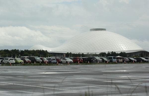 山口ゆめ花博の駐車場の写真