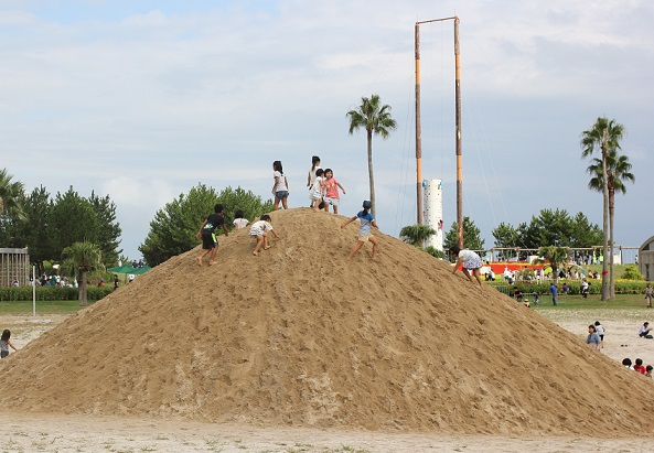 大きな砂場の写真