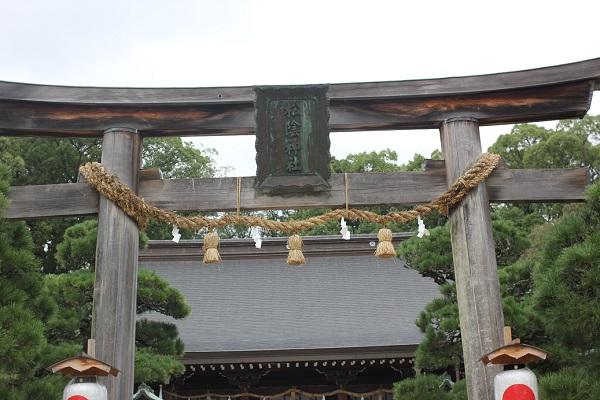 松陰神社の鳥居の写真