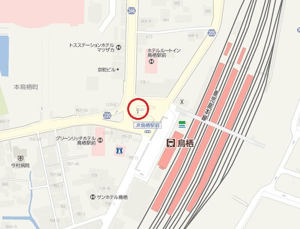 鳥栖駅、バス停の地図のイラスト