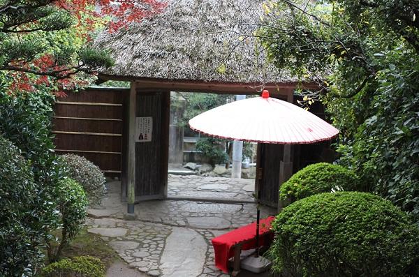 心田庵の門の写真