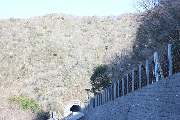 雲仙の山々とトンネルの写真