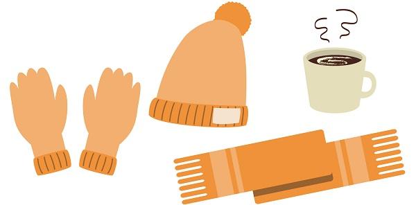 帽子と手袋、マフラーのイラスト