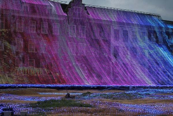光の滝の写真