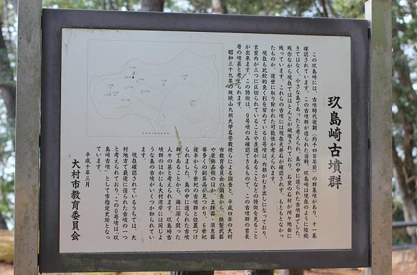 玖島崎古墳群の案内看板の写真