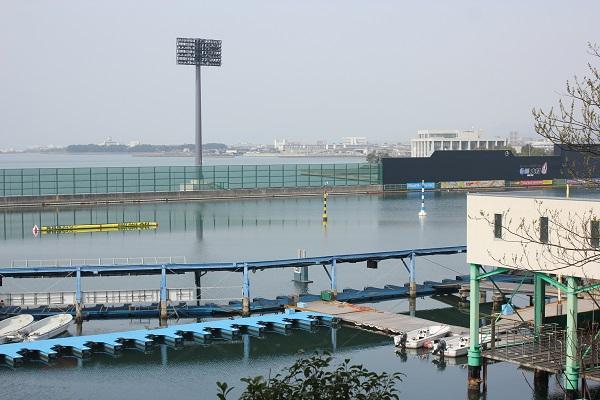 大村ボートの競技場の写真