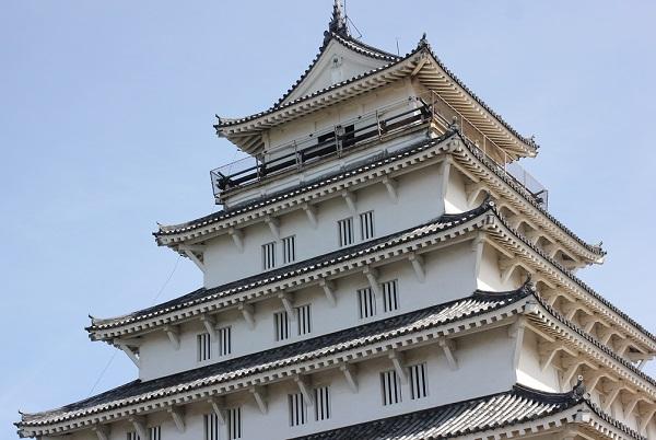島原城の天守閣の写真