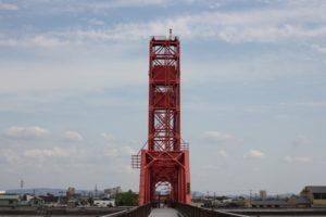 筑後川昇開橋、渡る時の橋の様子の写真