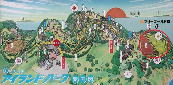 能古島アイランドパークの案内地図写真