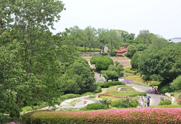 能古島アイランドパーク、初夏の庭園の写真