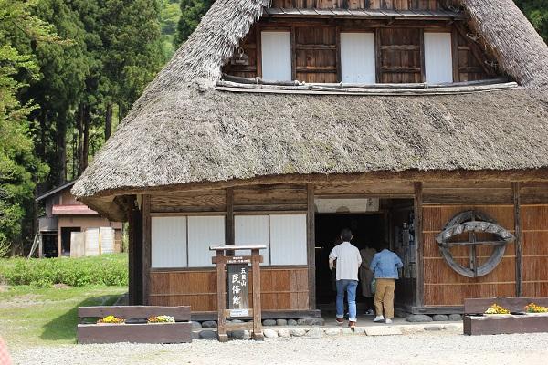 菅沼合掌造り集落にある五箇山民族館の外観写真