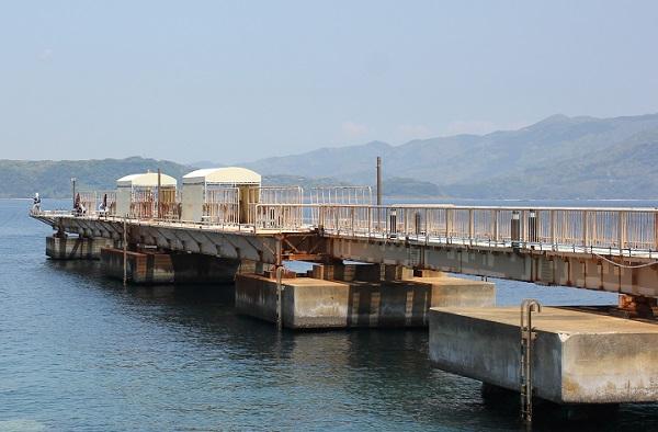 高島飛島釣り公園の釣り場の写真