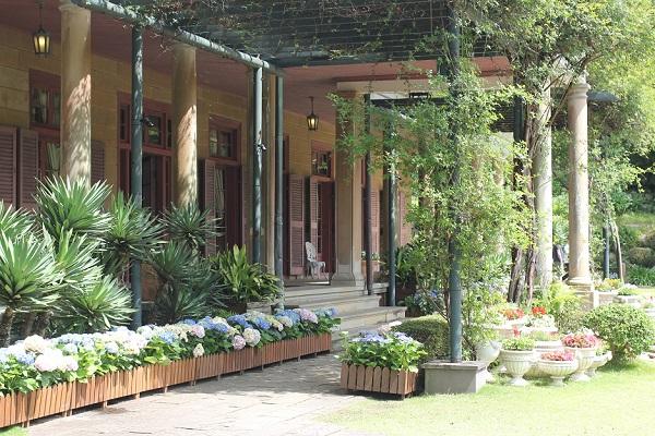 グラバー園、旧オルト住宅と庭の様子の写真