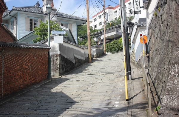 石橋電停側のオランダ坂の写真