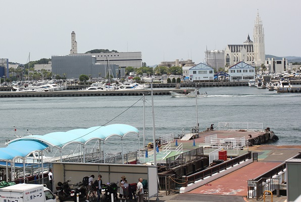 姪浜渡船場、港の様子の写真