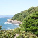 堂崎ノ鼻、海と空、木々などの綺麗な景色の写真