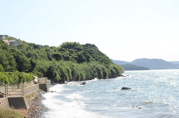 潮井崎公園海岸と海の様子の写真