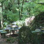 岩戸観光ガーデンのソーメン流しの様子の写真