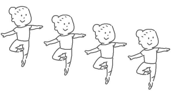 バレエをしてる女性のイラスト
