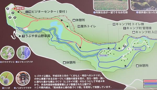 ヒコダイ公園内のマップの写真