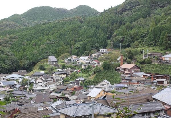 中尾山の高台から見た風景写真