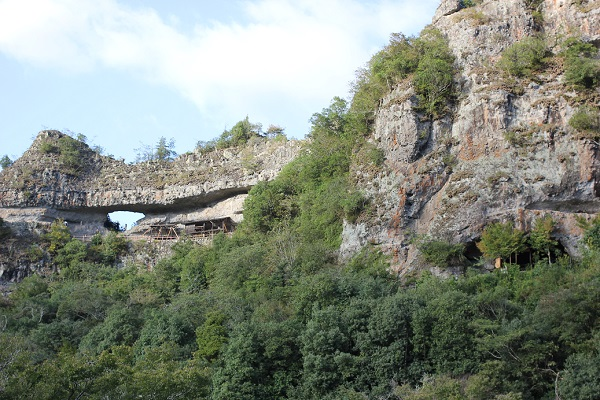 古羅漢、岩山の様子の写真