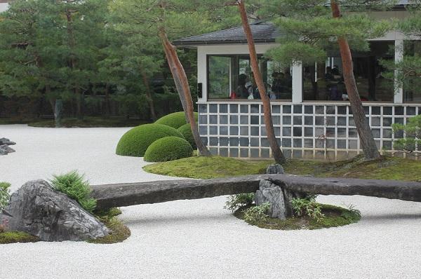 足立美術館、苔庭の様子の写真