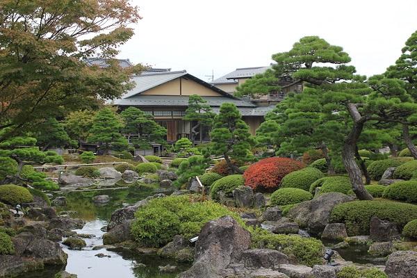 由志園の日本庭園の写真